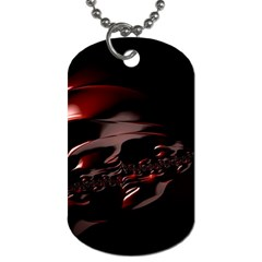 Fractal Mathematic Sabstract Dog Tag (one Side)
