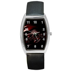 Fractal Mathematic Sabstract Barrel Style Metal Watch