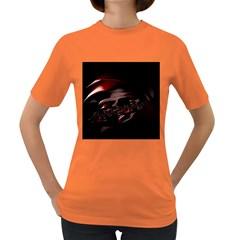 Fractal Mathematic Sabstract Women s Dark T Shirt