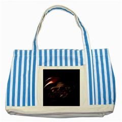 Fractal Mathematic Sabstract Striped Blue Tote Bag