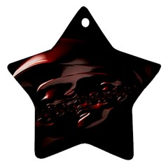 Fractal Mathematic Sabstract Star Ornament (two Sides)