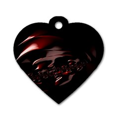 Fractal Mathematic Sabstract Dog Tag Heart (one Side)