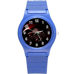 Fractal Mathematic Sabstract Round Plastic Sport Watch (s)