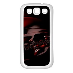 Fractal Mathematic Sabstract Samsung Galaxy S3 Back Case (white)