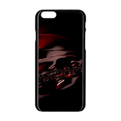 Fractal Mathematic Sabstract Apple Iphone 6/6s Black Enamel Case