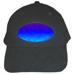 Gradient Red Blue Landfill Black Cap