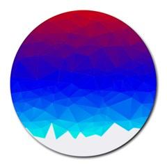 Gradient Red Blue Landfill Round Mousepads