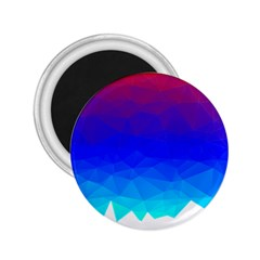Gradient Red Blue Landfill 2.25  Magnets