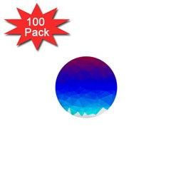 Gradient Red Blue Landfill 1  Mini Buttons (100 pack)