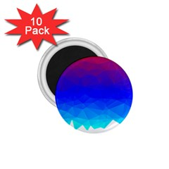 Gradient Red Blue Landfill 1 75  Magnets (10 Pack)