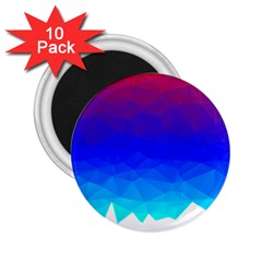 Gradient Red Blue Landfill 2 25  Magnets (10 Pack)