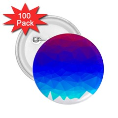 Gradient Red Blue Landfill 2 25  Buttons (100 Pack)