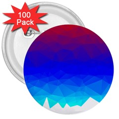 Gradient Red Blue Landfill 3  Buttons (100 Pack)