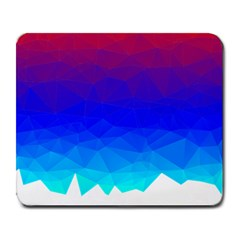 Gradient Red Blue Landfill Large Mousepads