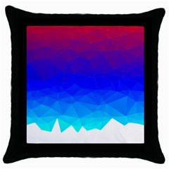 Gradient Red Blue Landfill Throw Pillow Case (Black)