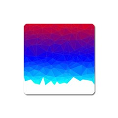 Gradient Red Blue Landfill Square Magnet