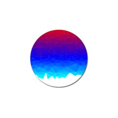 Gradient Red Blue Landfill Golf Ball Marker