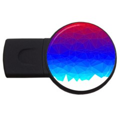 Gradient Red Blue Landfill Usb Flash Drive Round (2 Gb)