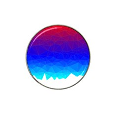 Gradient Red Blue Landfill Hat Clip Ball Marker (10 Pack)