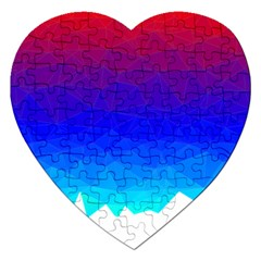 Gradient Red Blue Landfill Jigsaw Puzzle (heart)