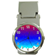 Gradient Red Blue Landfill Money Clip Watches
