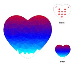 Gradient Red Blue Landfill Playing Cards (heart)
