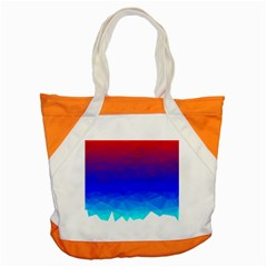 Gradient Red Blue Landfill Accent Tote Bag
