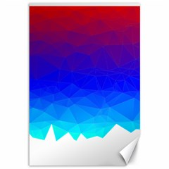 Gradient Red Blue Landfill Canvas 12  X 18