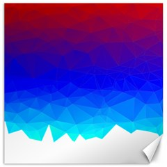 Gradient Red Blue Landfill Canvas 16  X 16
