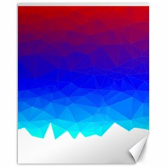 Gradient Red Blue Landfill Canvas 16  X 20