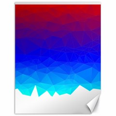 Gradient Red Blue Landfill Canvas 18  X 24
