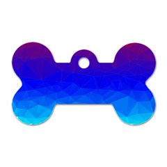 Gradient Red Blue Landfill Dog Tag Bone (two Sides)