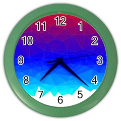 Gradient Red Blue Landfill Color Wall Clocks