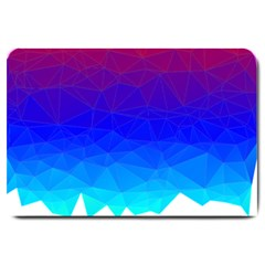 Gradient Red Blue Landfill Large Doormat