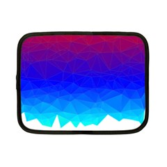 Gradient Red Blue Landfill Netbook Case (small)