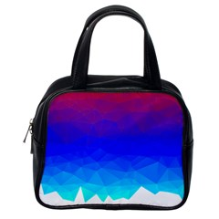 Gradient Red Blue Landfill Classic Handbags (one Side)