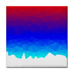 Gradient Red Blue Landfill Face Towel