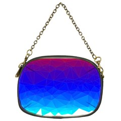 Gradient Red Blue Landfill Chain Purses (one Side)