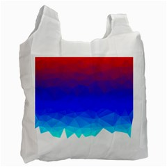 Gradient Red Blue Landfill Recycle Bag (One Side)