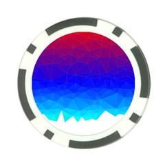 Gradient Red Blue Landfill Poker Chip Card Guard (10 Pack)