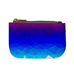 Gradient Red Blue Landfill Mini Coin Purses