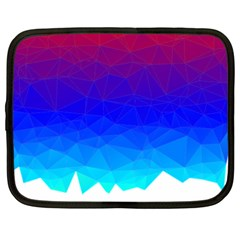 Gradient Red Blue Landfill Netbook Case (xl)