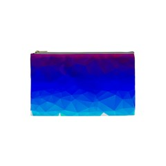 Gradient Red Blue Landfill Cosmetic Bag (small)