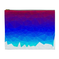 Gradient Red Blue Landfill Cosmetic Bag (xl)