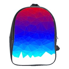 Gradient Red Blue Landfill School Bags(large)