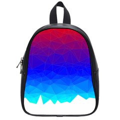 Gradient Red Blue Landfill School Bags (small)
