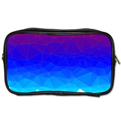 Gradient Red Blue Landfill Toiletries Bags 2 Side