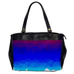 Gradient Red Blue Landfill Office Handbags