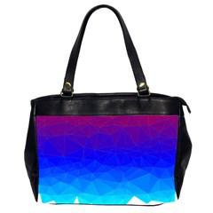 Gradient Red Blue Landfill Office Handbags (2 Sides)