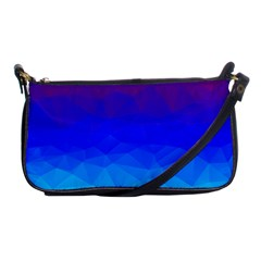 Gradient Red Blue Landfill Shoulder Clutch Bags